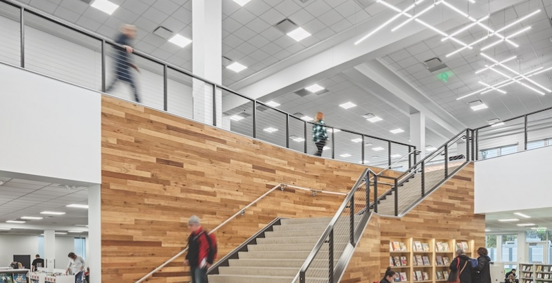Main Stair in Columbus Metro Library Hilliard Branch