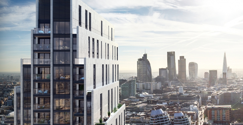 Mace and Make work on London 40-story residential tower