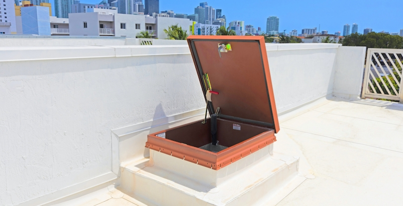 BILCO roof hatch in townhomes, Little Havana, Miami