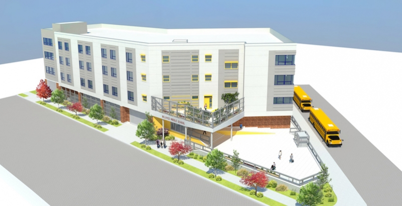 Rendering of BelovED Middle School