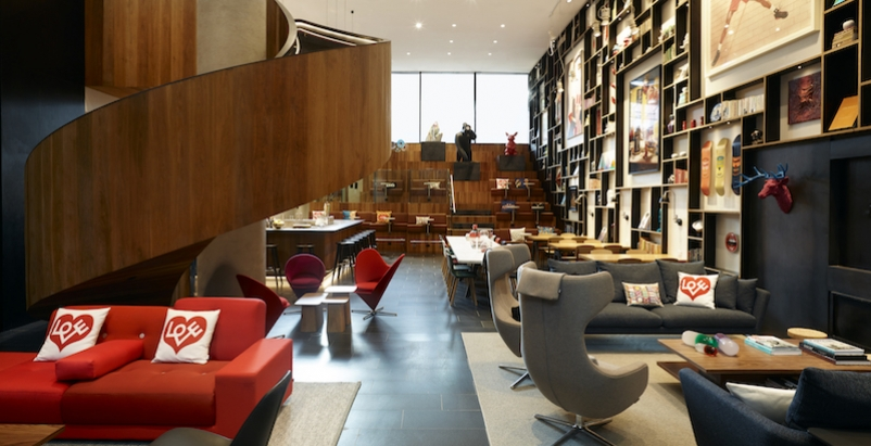 CitizenM lounge space