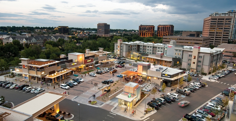 Urban and TOD projects like the CitySet Cherry Creek retail center in Glendale,