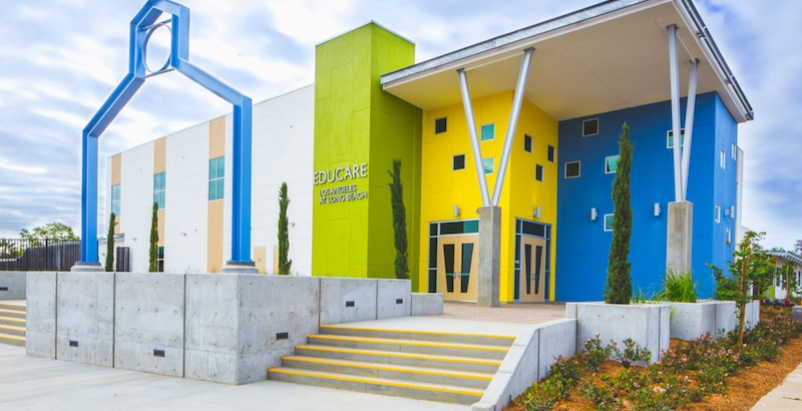 Educare Los Angeles at Long Beach modular building