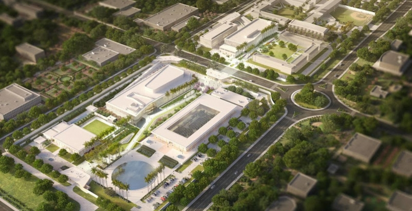 Aerial view of new U.S. embassy campus