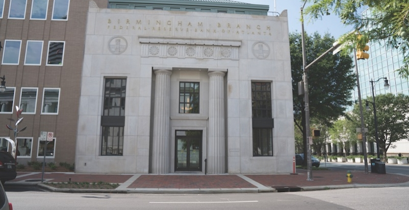 The renovated entry with custom-made replica columns