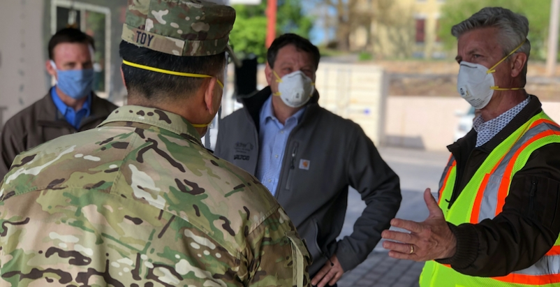 USACE general Mark Toy briefed by Tarlton Corp. officials