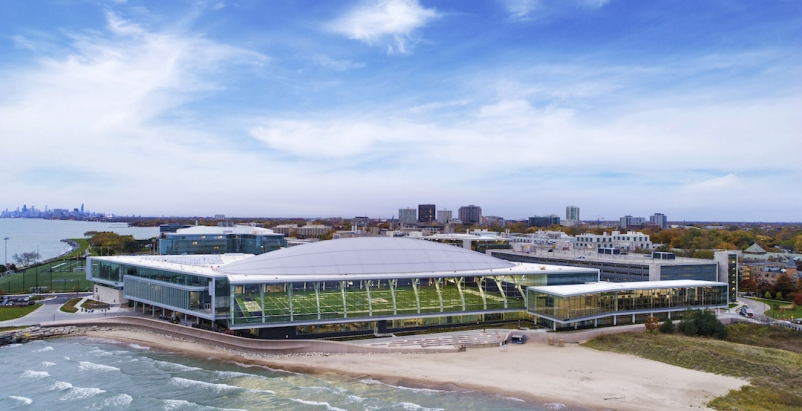2019 Contractor Giants Report, Giants 300, Ryan Fieldhouse and the Walter Athletics Center at Northwestern University, Photo by AJ Brown Photography, courtesy Walsh Group