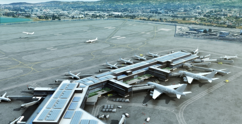 2019 Airport Terminal Giants Report The first nine gates of Boarding Area B at San Francisco International Airport's $2.4 billion Harvey Milk Terminal 1 renovation opened in July. Renderings: HKS
