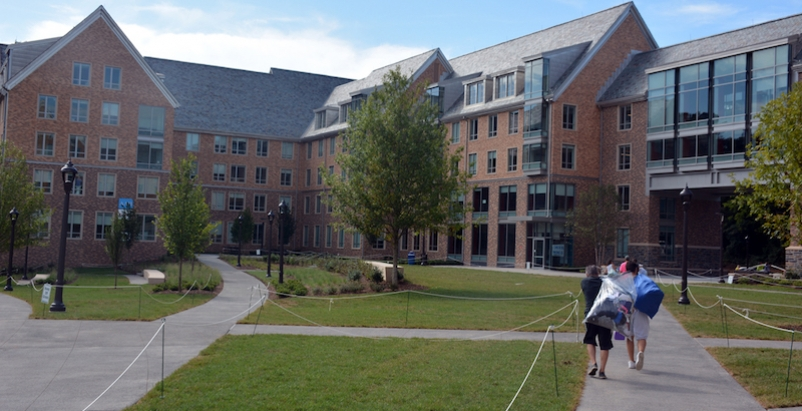 Exterior of Hollows Quad