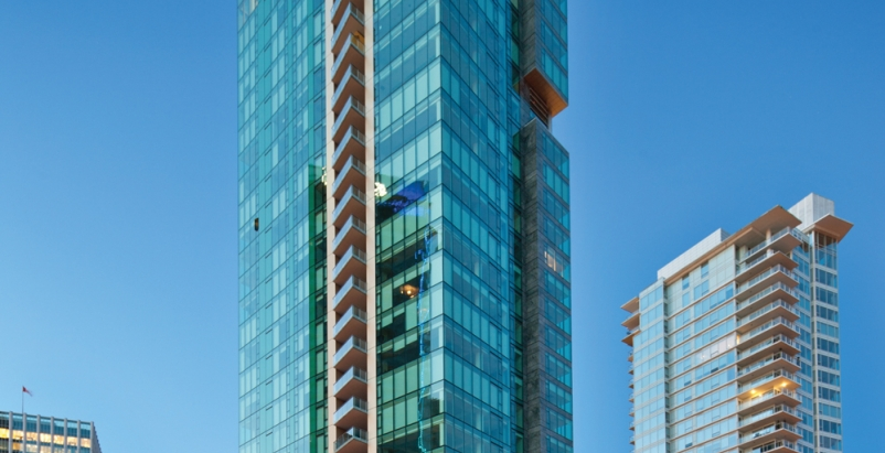 The 33-story Three Harbour Green tower is the final piece of a three-building de