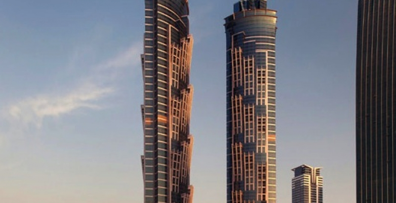 At 1,166 feet, the JW Marriott Marquis Hotel Dubai Tower 2 was the tallest build