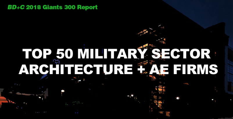 Top 50 Military Sector Architecture + AE Firms [2018 Giants 300 Report]