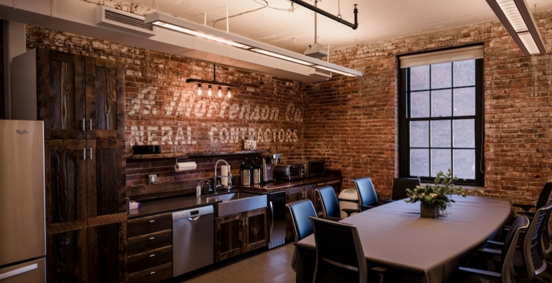 Mortenson Construction's office incorporates a 100-year-old barn
