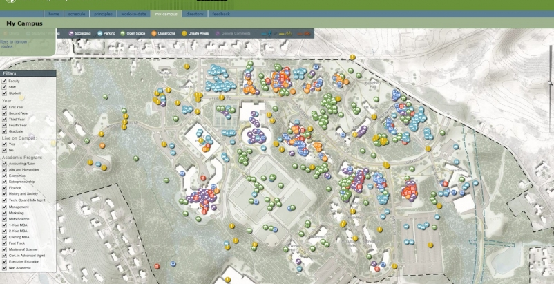 Sasaki's MyCampus interactive mapping program