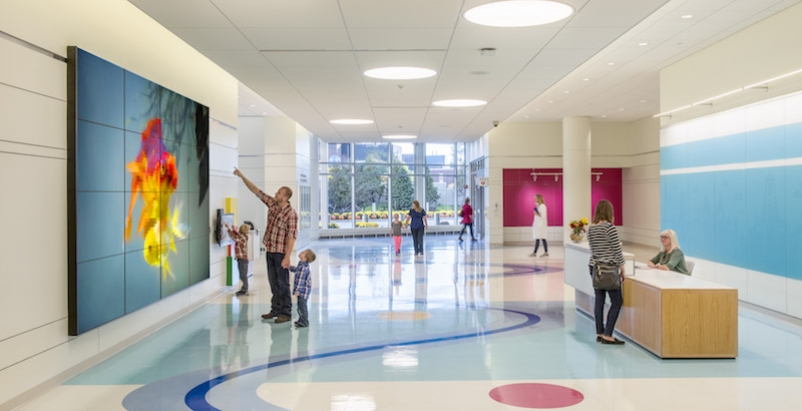 Interior of the Oishei Children's Hospital