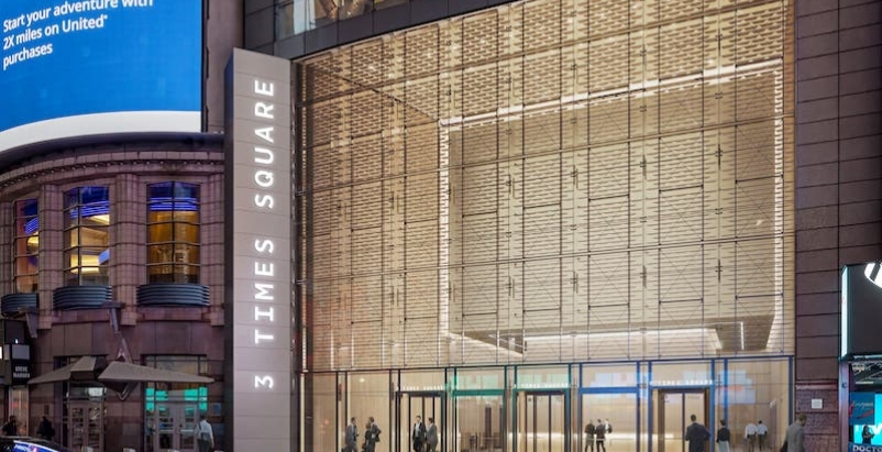 3 Times Square reimagined lobby