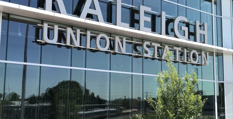 Raleigh Union Station exterior sign