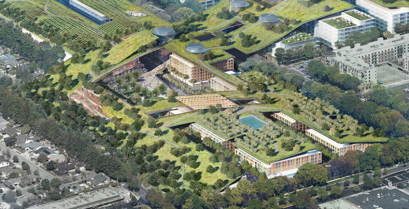Vallco Shopping Mall renovation plans include 'largest green roof in the world'