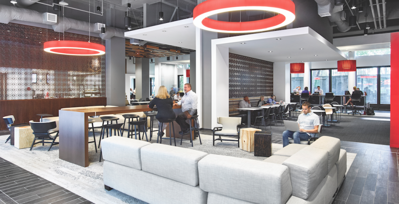 Coca-Cola's Workplace 2020 project, Atlanta, designed by Gentler. Photo: Garrett Rowland