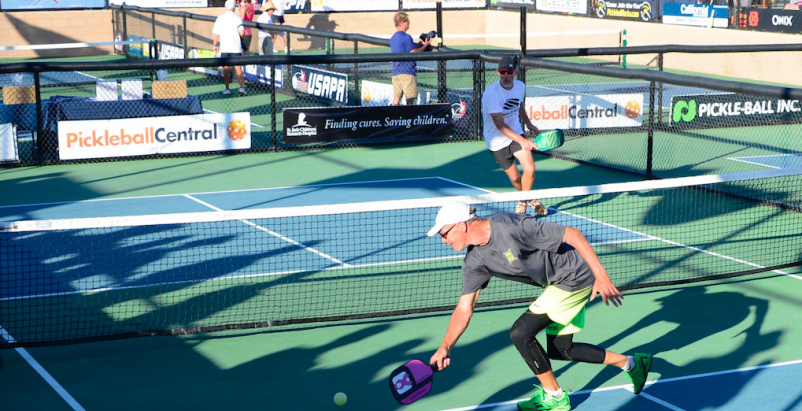 Action at last November's USA Pickleball Association Nationals in Casa Grande, Ariz.
