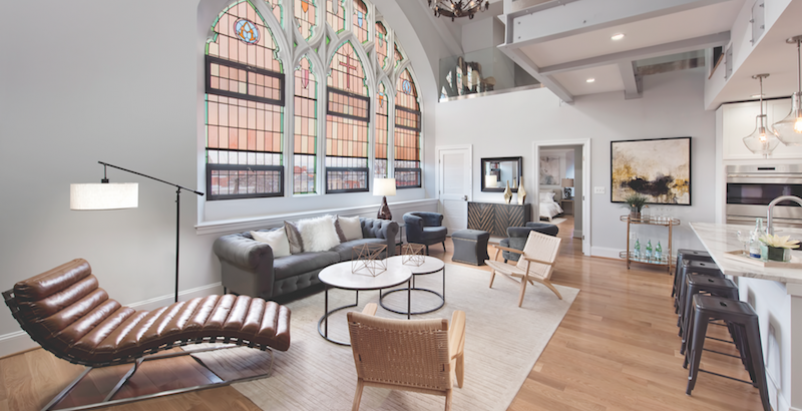 The 2,315-sf, third-floor penthouse at the Sanctuary, Washington, D.C.