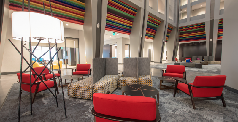 Work, park, live: Inside Cincinnati's parking garage turned lifestyle hotel