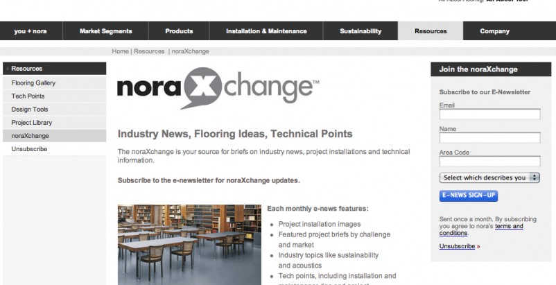 Updated monthly, noraXchange is designed to help facility managers, architects,