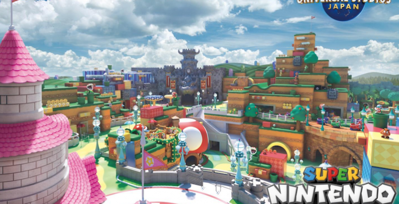 Super Nintendo World Rendering
