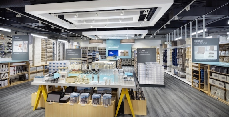The interior of the redesigned Container Store