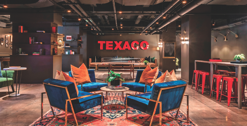 Texaco's century-old headquarters is now a luxury apartment community