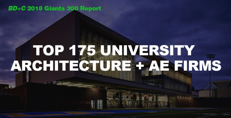 Top 175 University Architecture + AE Firms [2018 Giants 300 Report]