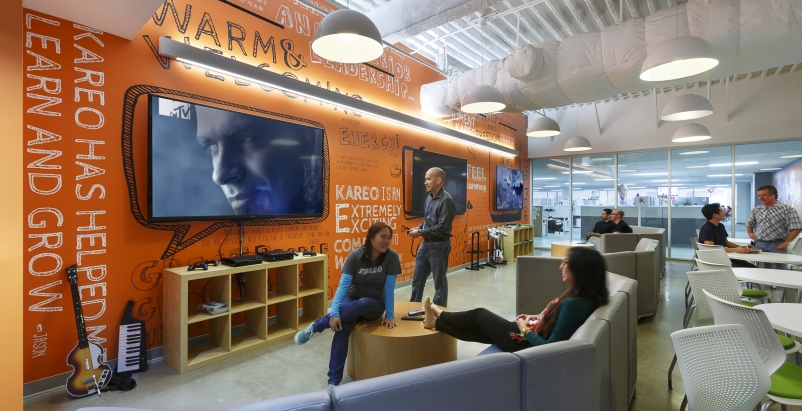 The new headquarters in Irvine, Calif., for medical office software provider Kareo, designed by LAP Inc.