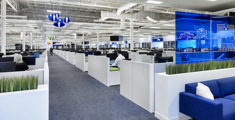 Medline's new call center in Dubuque, Iowa