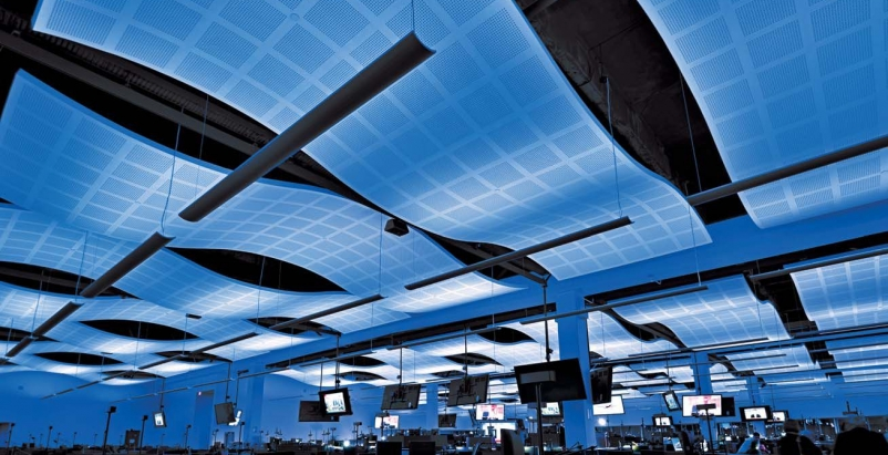 7 sleek selections for ceilings and acoustical systems