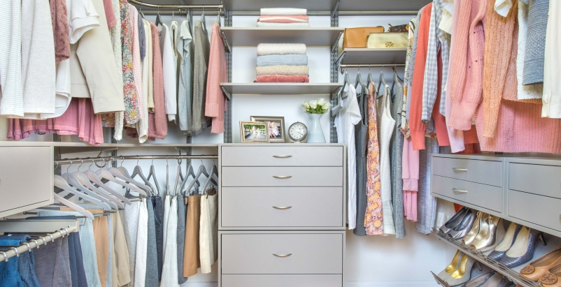 Freedom Rail Century Gray closet system from Organized Living