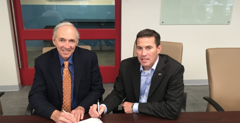 Jerry Yudelson, President of the Green Building Initiative, with Grant Seiffert,