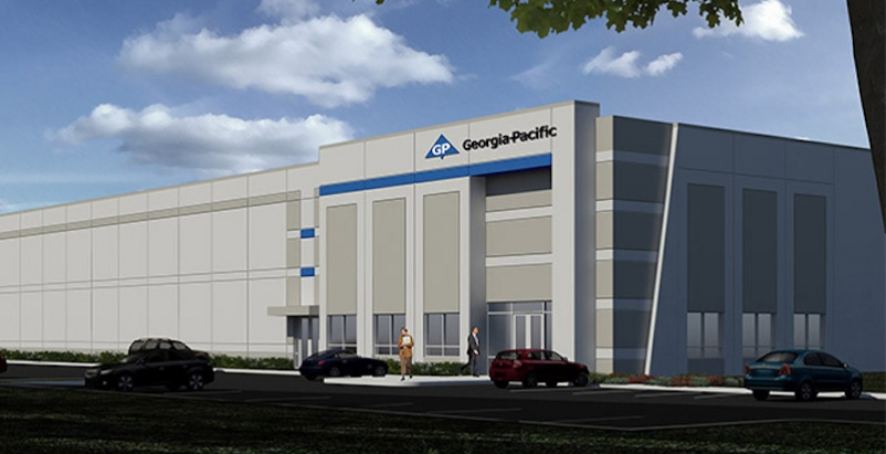 The exterior of the new Georgia-Pacific distribution facility