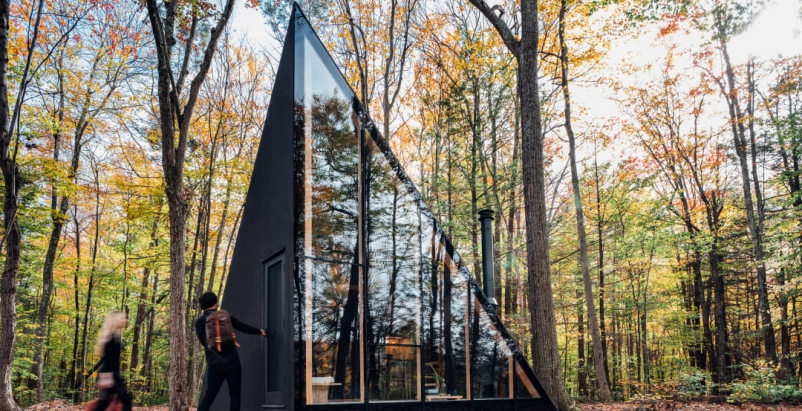 Klein A45, Catskill Mountains, New York, by Bjarke Ingels Group. Photo: Matthew Carbone
