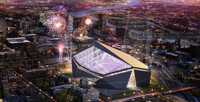 High tech material makes Minnesota Vikings' new stadium's roof light and strong