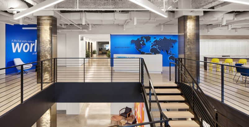 CareerBuilder HQ central stair and reception