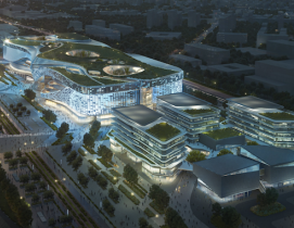 10 design airport mixed-use project aerial