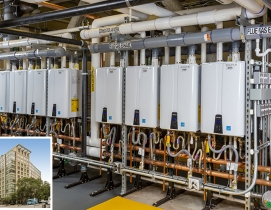 Navien tankless water heaters at West End Asteria Apartments, Boston