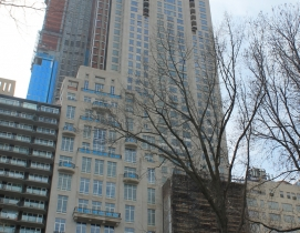 220 Central Park South's limestone facade