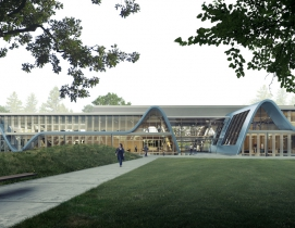 Form4 designs curved roofs for Stanford tech park