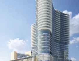 The exterior of Orlando's newest mixed-use tower