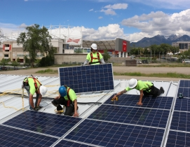 Solar carports power Major League Soccer stadium in Utah