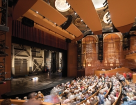 A former movie house, the Allen Theatre was built in 1921 to seat more than 3,00