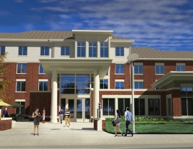 Rendering of Schallenkamp Hall