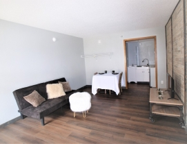 Living space inside affordable housing unit