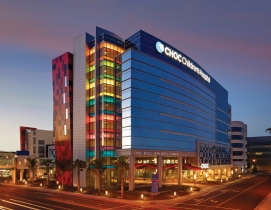The new Bill Holmes Tower at CHOC Childrens Hospital in Orange, Calif., provide